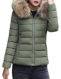 VJGOAL Mujeres Invierno Moda Color sólido Casual más Grueso Lindo Peludo con Capucha Chaqueta de Abrigo