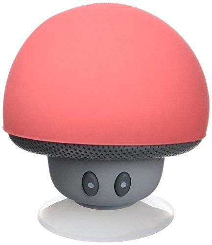 MOB MUSH-RD - Enceinte Bluetooth Waterproof Champignon, Son puissant, Multifonction, Se ventouse partout, Idée cadeau - Rose
