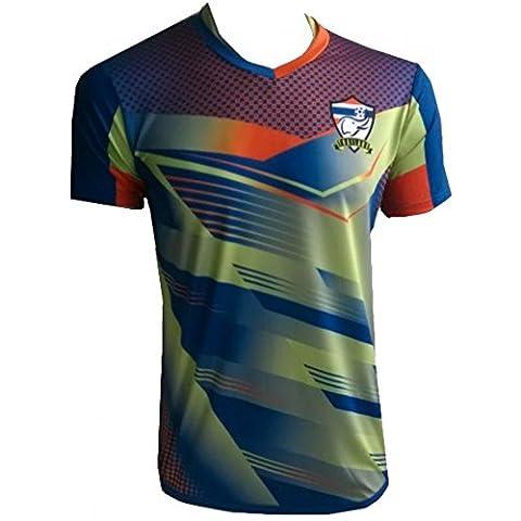 Fashion - Maillot de foot Thailande Classic bleu collection 2016 - XL