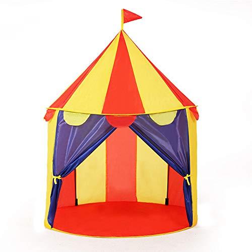 Sanqing Helles buntes Zirkus-POP-UP-Zelt - Karnevals-Stand-Spiel-Zelt zuhause/im Freien Kinderspiel-Tätigkeiten-Strand-Sonnenschutz. Großes Geburtstagsgeschenk-Jungen-Mädchen,Red