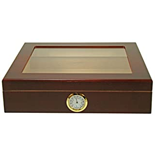 Angelo Wooden cigar humidor for 25 cigars with glass lid