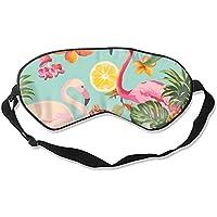 Fruit and Flamingos Schlafmaske mit verstellbarem Riemen für Damen und Herren preisvergleich bei billige-tabletten.eu