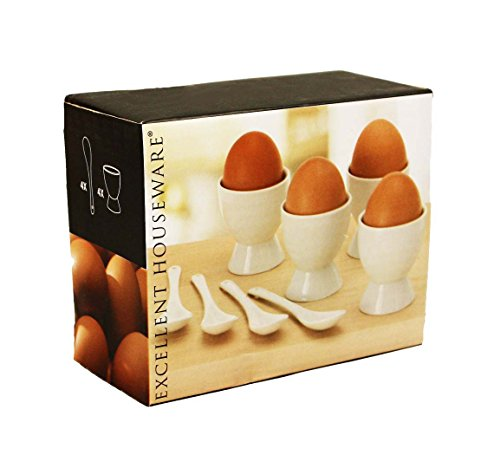 HAAC-Set di 8Portauovo in ceramica con cucchiai Pasqua preisvergleich