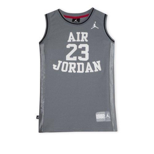 Nike Jordan Boys Youth Classic Mesh Jersey Shirt (L(12-13YRS), Grey/White) - Jordan Mesh-kleid