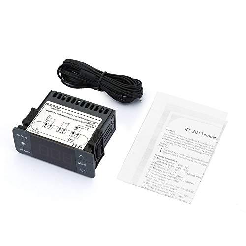 gfjfghfjfh Digitaler Temperaturregler Thermoregulator Thermostat Thermoelementfühler mit Kälte Abtauung 220V 10A -