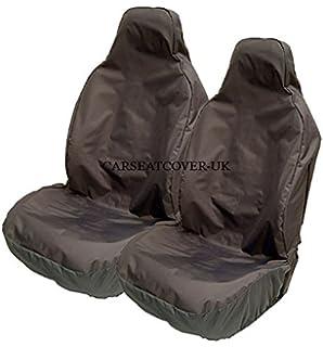 Heavy Duty Black Waterproof Car Seat Covers 2012- Fiat Panda 2 x Fronts