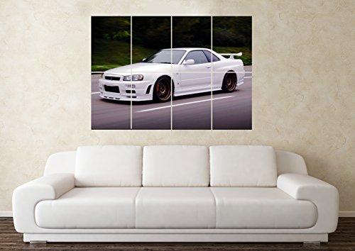 auto-poster-kunstdruck-gross-motiv-nissan-skyline-gtr-r34-32-33-35