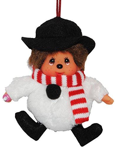 Anhänger / Schlüsselanhänger Monchhichi als Schneemann - Monchichi Santa Claus Nikolaus (Kostüm Monchichi)