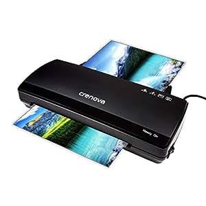 Plastifieuse, Crenova LT01 Plastifieuse 2 rouleaux jusqu'à 250mm/min Chauffage rapide, largeur max 230mm A4 pour documents/photos/cartes + 10 Pochettes de plastification