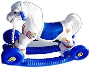 JBRD 2 in 1 Horse Rider for Kids (White & Blue)