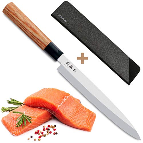 KAI Yanagiba Messer Seki Magoroku Redwood Sashimi Sushi MGR-210Y 21 cm mit Klingenschutz Yanagiba Sushi