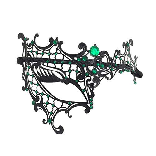 Venezianische Kostüm Fotos - HEALIFTY Maskerade Ball Maske Strass Metall