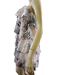 05c9fc15da JARLO Pink / Grey Leopard Detail Bandeau Party Dress - UK SIZE 14 [Apparel]