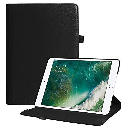 FINTIE Coque pour iPad 9.7 2018 2017 / iPad Air 2 / iPad Air - Multi Angles étui Housse Cover avec Stand de Positionnement Support et la Fonction Sommeil/Réveil Automatique, Noir