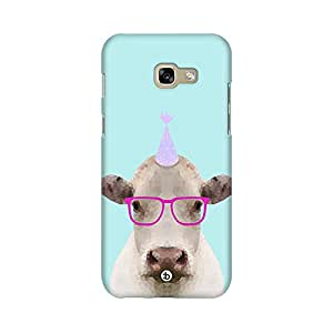 Mobicture Partycow Printed Phone Back Case for Samsung A3 2017