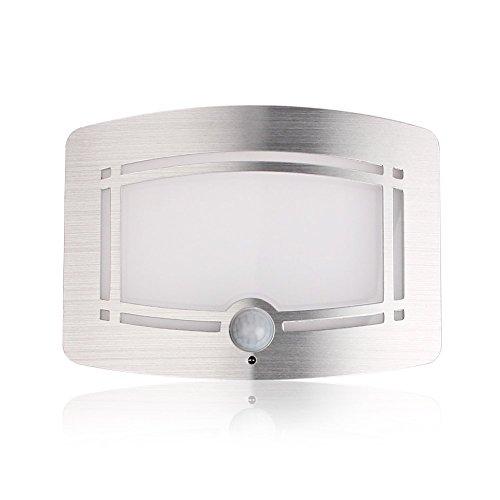 IPUIS Lampe LED avec Capteur d'Infrarouge sans Fil Détecteur de Mouvement 0.7W Idéal Pour Penderie/Escalier/Cabinet Alimentée/Entrée/Couloir/Cour/Balcon par 4 Piles AAA