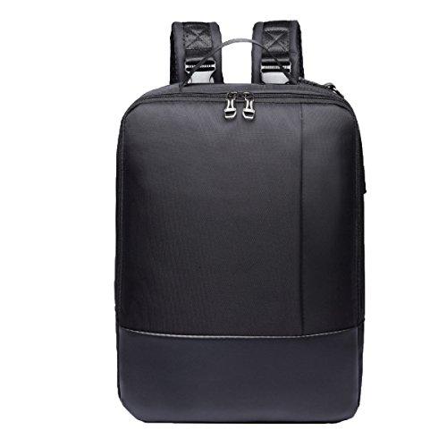 Laptop-Rucksack Tablet-Tasche Studentenrucksack Wochenendausrüstung Reisen Wanderrucksack Lässige Tagesrucksäcke,Black-M