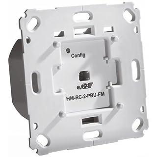 ELV Homematic Komplettbausatz Funk-Sender 2-Fach für Markenschalter, 230 V, Unterputzmontage (Kein Aktor) HM-RC-2-PBU-FM, für Smart Home/Hausautomation