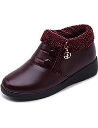 29e1d7978 Las Mujeres Calientan La Piel De Invierno Fuera De La Cremallera SóLido  Madre AlgodóN Antideslizante Zapatos
