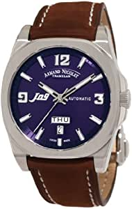 Armand Nicolet J09 9650A-BU-P865MR2 39mm Automatic Stainless Steel Case Brown Suede Anti-Reflective Sapphire Men's Watch