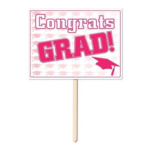 rats Grad Yard in Pink - 6er Pack (Congrats Grad Banner)
