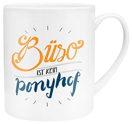 Die Geschenkwelt45400 XL-Tasse mit Design Büro ist kein Ponyhof, Porzellan, in Geschenk-Verpackung, 60 cl