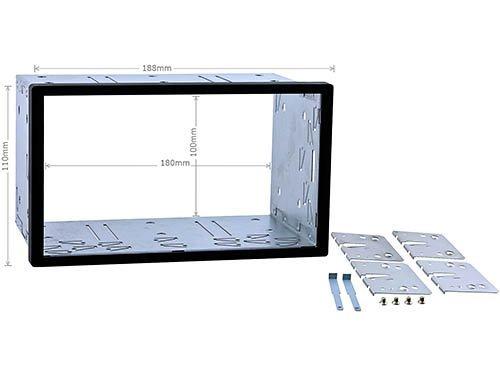 Doppel DIN Einbauschacht / Radioblende Universal (BxH:189x105mm)