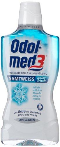 Odol-med3 Mundspülung Samtweiss Polarfrisch 500 ml, 8er Pack (8 x 500 ml)