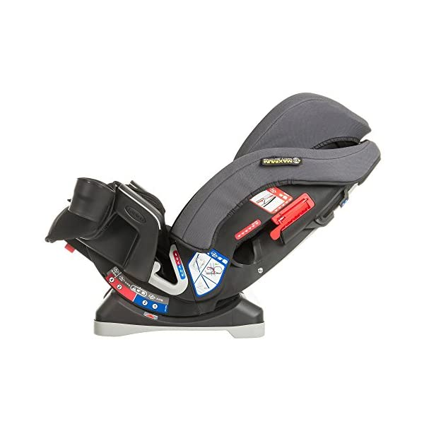 Graco Milestone All-in-One Car Seat, Group 0+/1/2/3, Aluminium Graco Group 0+/1/2/3 can be used for kids from birth up to 12 years of age Easily converts to and from the three riding modes The headrest can be adjusted easily with one hand to grow with your child 4
