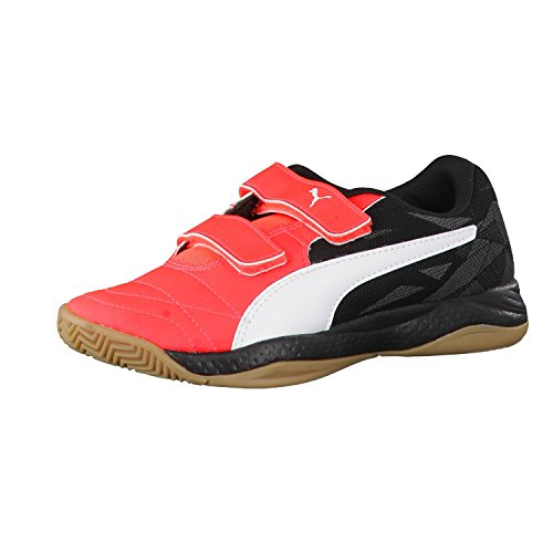 Puma Veloz Indoor Iii V Jr, Chaussures de Fitness Mixte Enfant Rouge