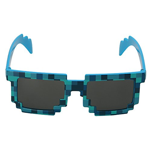 JAGENIE Novelty Pixel Mosaic Glasses Sunglasses Party Cosplay Photo Prop Toy Unisex BL