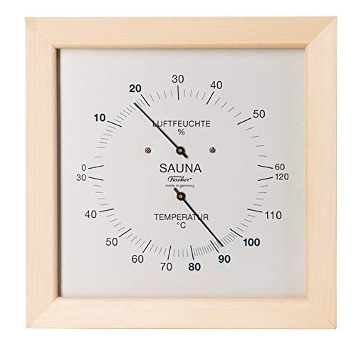Fischer Sauna Thermometer & Hygrometer 200 mm, 187TH-03