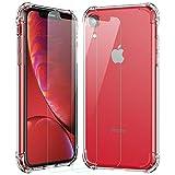 MTOP Coque iPhone XR avec [2Pack Protection d'écran en Verre trempé], Absorption des Chocs Contre Les Rayures [Protection Contre Les Chutes] Coque de Protection pour iPhone XR (6.1 inch) Clear