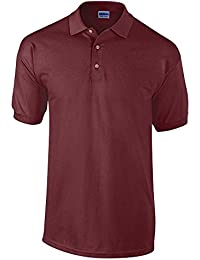 Gildan Mens Heavyweight 100 Short Sleeve Ultra Cotton Polo Shirt