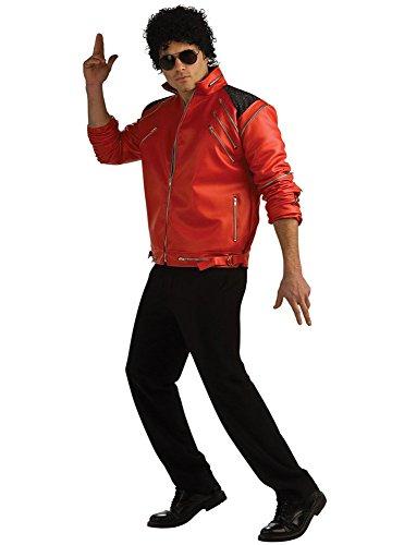 Beat Jackson It Erwachsene Michael Kostüm Für - Michael Jackson Jacke mit Reißverschlüssen Beat It Deluxe für Erwachsene