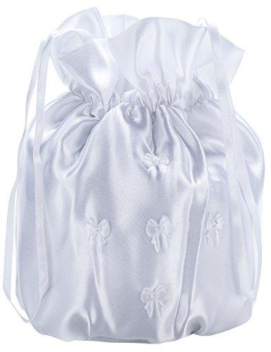 Princess Taufkleid Brauttasche aus Satin Weiß/Glanz