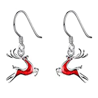 AYHa Eye-Catching Earrings Fashion Christmas Deer Drop Earrings Charms Pendant Earring Women Girls Christmas Day Gifts Red Women