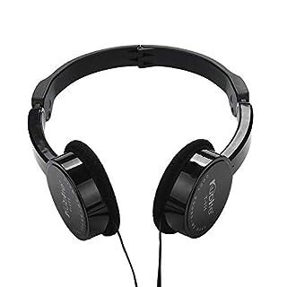 TAOtTAO Kubite Kids Wire Headphones On Ear Foldable Stereo Headset For Kids Earphone (Black)