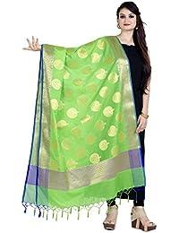 Chandrakala Women's Art Silk Zari Work Banarasi Dupatta(D157)