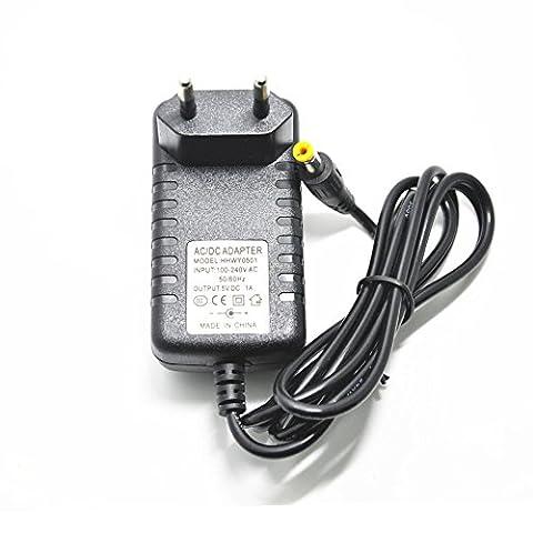 Shine-Co DC 5V 1A Alimentation d'adaptateur, AC 100-240V Transformateur de puissance pour LED guirlande lumineuse, prise de courant EU avec Pointe de 5,5 x