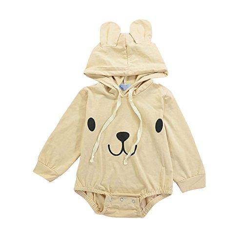 Baby-Mädchen-lange Hülsen-nettes Spielanzug, Qlan-neugeborenes Säuglings-mit Kapuze Overall-Ausstattungs-Kleidung