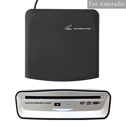 XISEDO Externes DVD Laufwerk CD/DVD Ladegerät CD/DVD RW Burner Writer Drive DVD ROM Player External CD RW DVD RW/CD RAM/DVD RAM Drive for Android Autoradio, Laptop, PC, Desktop Computer