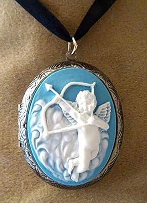 pendentif médaillon, cassolette, camée porte photo,ange, cupidon