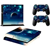 Ps4 Playstation 4 Consola Design Foils Skin Sticker Decal Pegatinas + 2 Controlador Skins Set (earth)