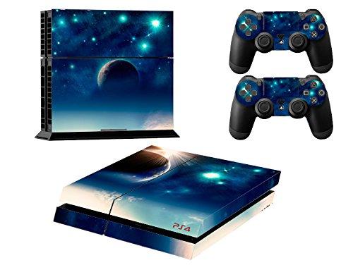 Ps4 Playstation 4 Consola Design Foils Skin Sticker Decal Pegatinas + 2 Controlador Skins Set (earth)