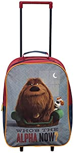 Official Secret Life Of Pets Alpha Wheeled Case Luggage Suitcase Travel Bag