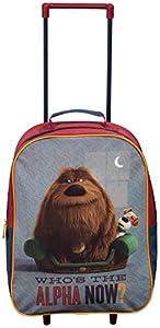 Official Secret Life Of Pets Alpha Wheeled Case Luggage Suitcase Travel Bag