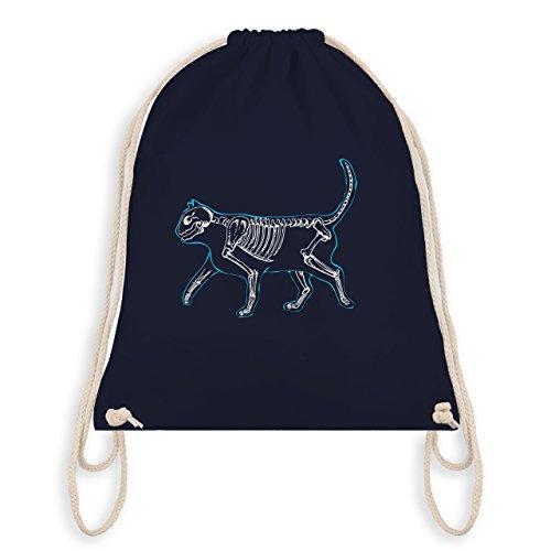 Katzen - spooky cat - Turnbeutel I Gym Bag Navy Blau