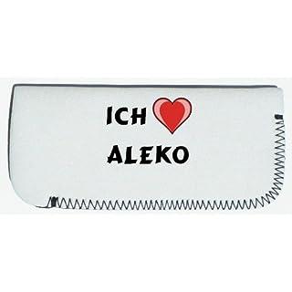 Brillenetui mit Ich liebe Aleko (Vorname/Zuname/Spitzname)
