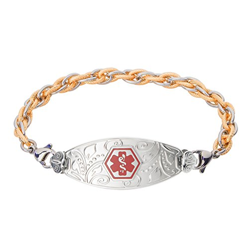 divoti-custom-engraved-lovely-filigree-medical-alert-bracelet-inter-mesh-pvd-2-tone-g-s-red-60